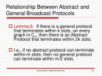 relationship between abstract and general broadcast protocols