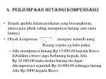 4 perjumpaan hutang kompensasi