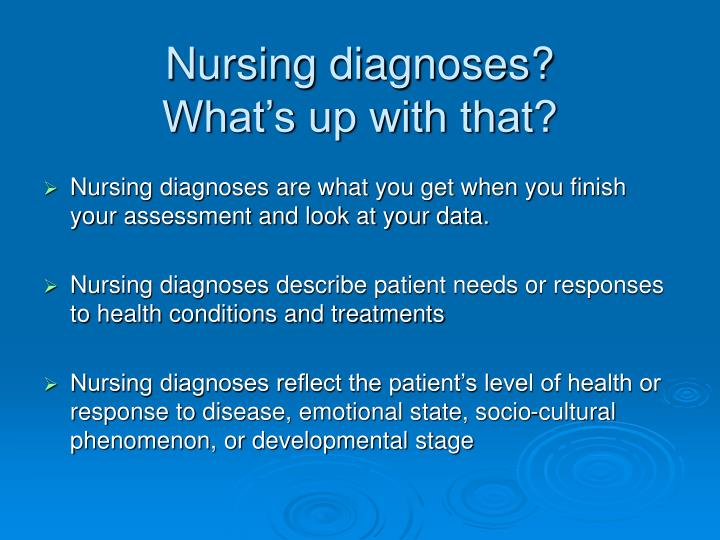 differentiate between nursing diagnoses and collaborative problems When writing collaborative problem diagnostic statements the label risk for complications of is always used for more information about the difference between a nursing diagnosis and a collaborative problem please watch my video about medical versus nursing diagnoses and.