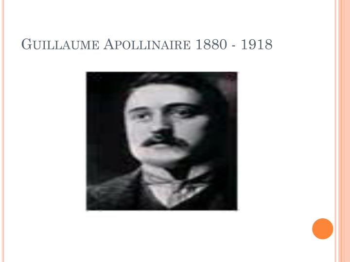 Guillaume apollinaire 1880 1918