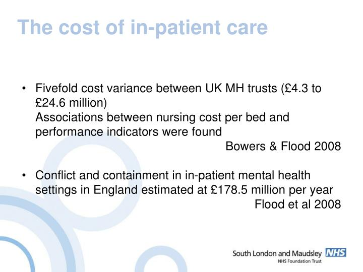 The cost of in-patient care