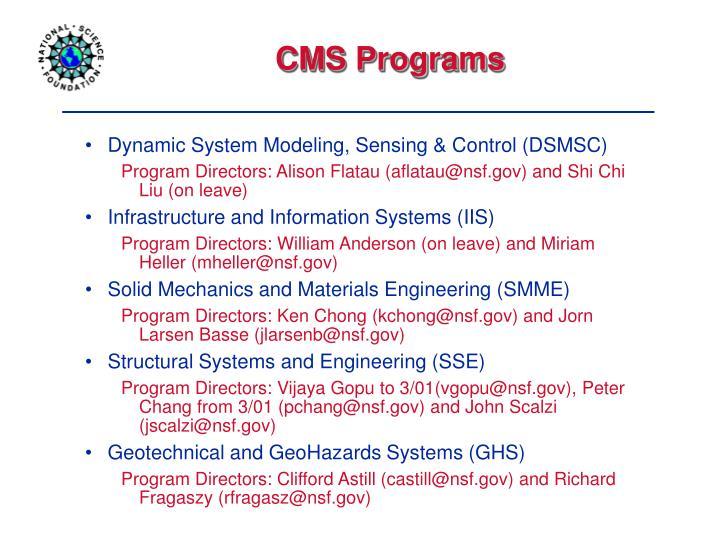CMS Programs