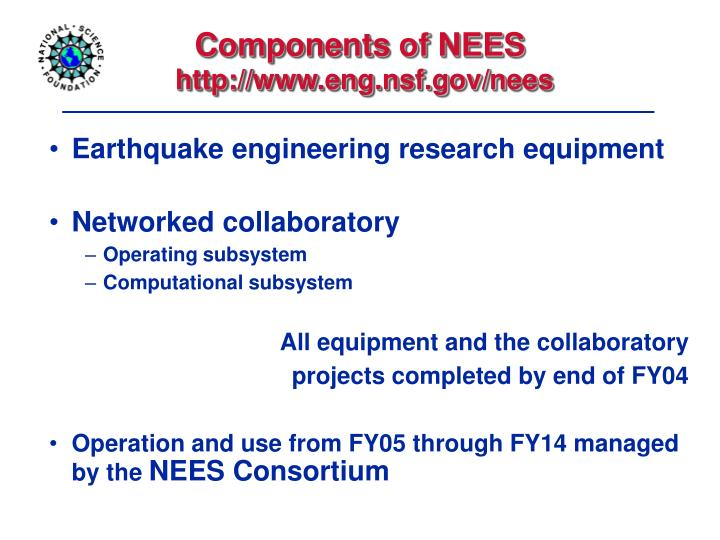 Components of NEES