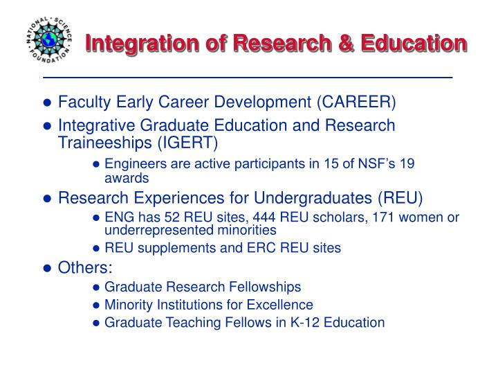 Integration of Research & Education
