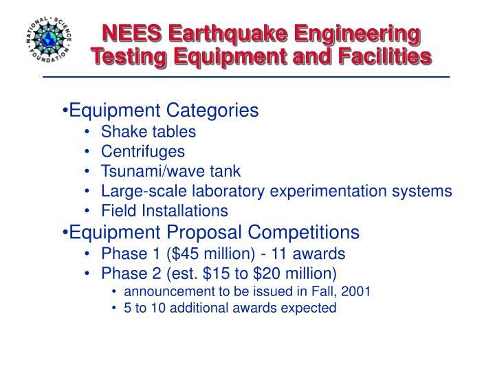 NEES Earthquake Engineering