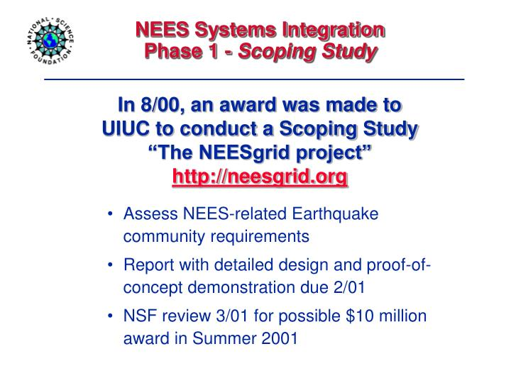 NEES Systems Integration