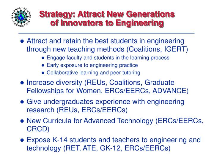 Strategy: Attract New Generations