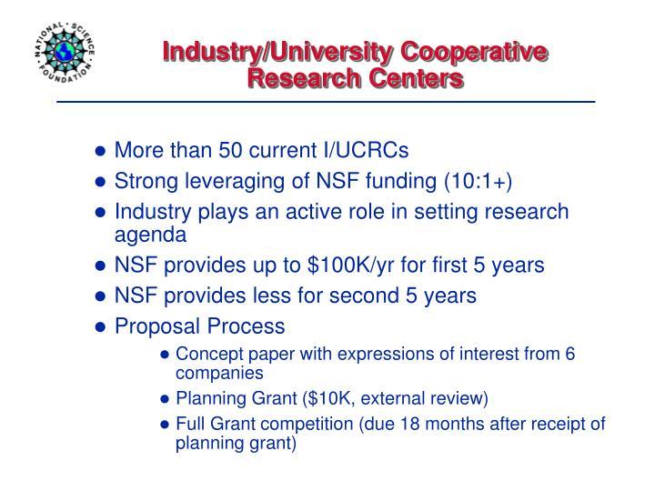 Industry/University Cooperative