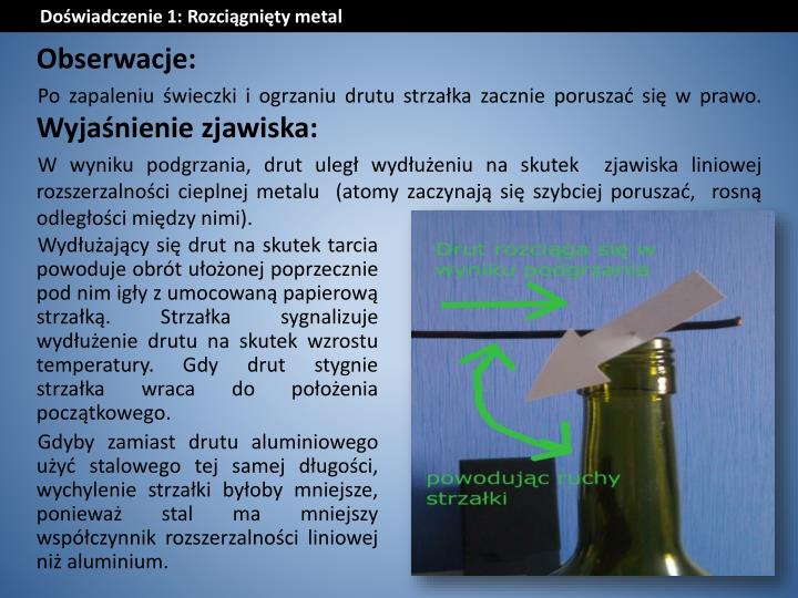 Doświadczenie 1: Rozciągnięty metal