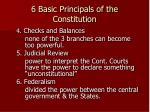 6 basic principals of the constitution1
