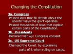 changing the constitution1