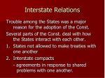 interstate relations