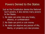 powers denied to the states