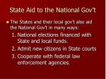 state aid to the national gov t