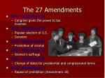 the 27 amendments1