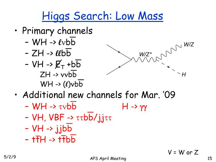 Higgs Search: Low Mass