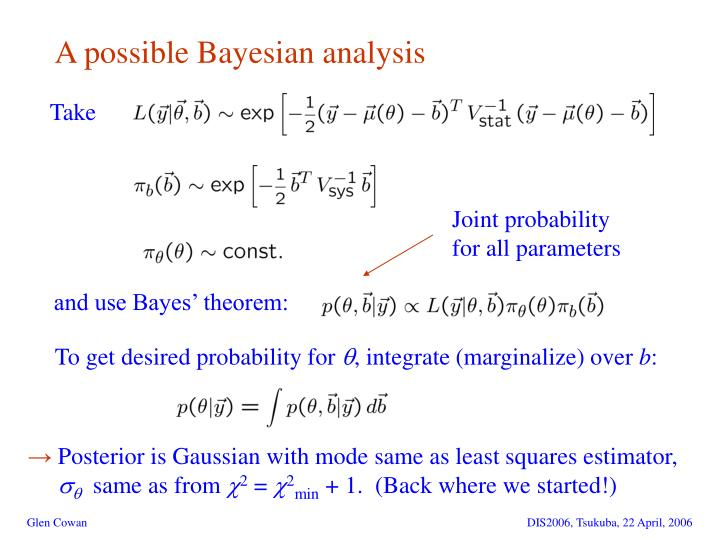 A possible Bayesian analysis