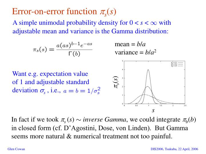 Error-on-error function