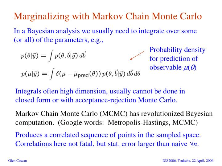 Marginalizing with Markov Chain Monte Carlo