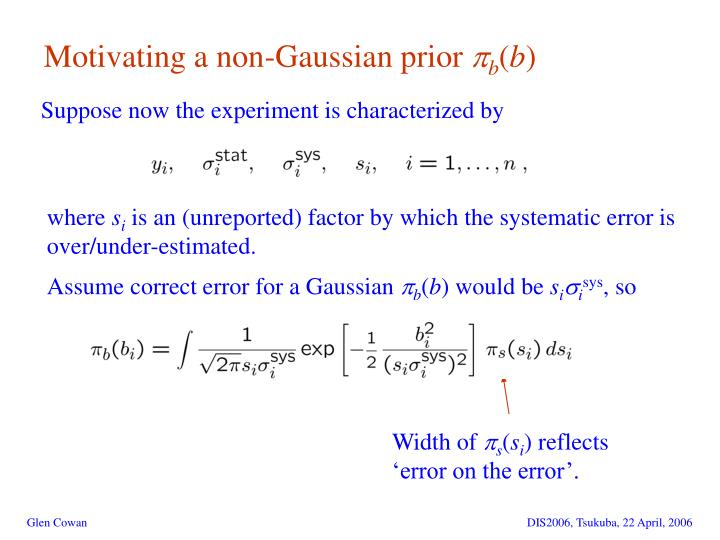 Motivating a non-Gaussian prior