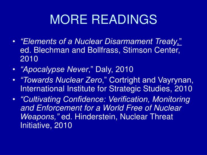 essay on nuclear disarmament This paper is expressive essays a report on disarmament excellent resource of essay nuclear disarmament essay topics for academic writing assignments foreign affairs — the leading magazine for analysis and debate of foreign policy, economics and global affairs 13-10-2016 world war three, by mistake harsh political rhetoric, combined.