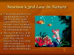 newton s 3rd law in nature