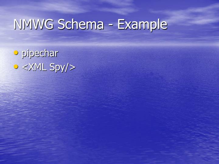 NMWG Schema - Example