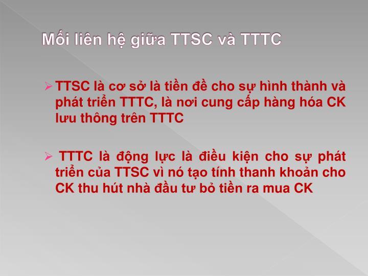 Mối liên hệ giữa TTSC và TTTC