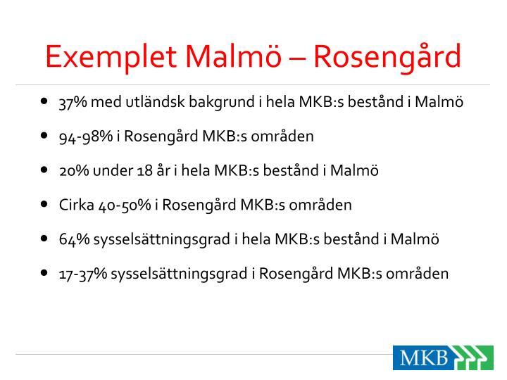 Exemplet Malmö – Rosengård