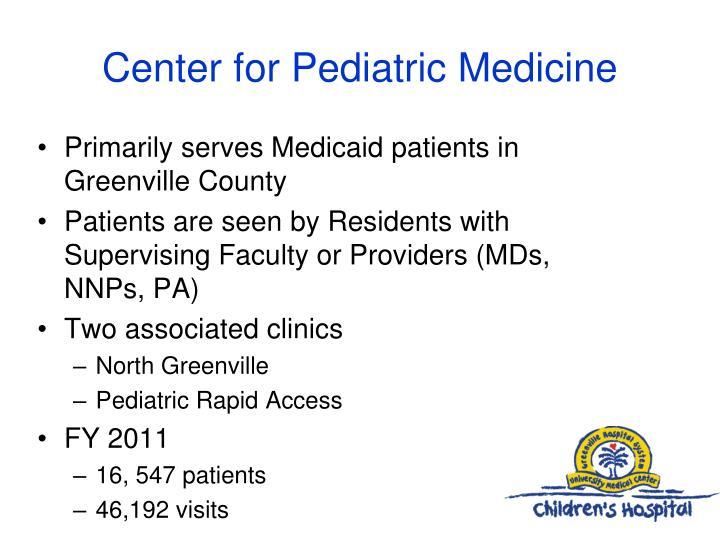 Center for pediatric medicine