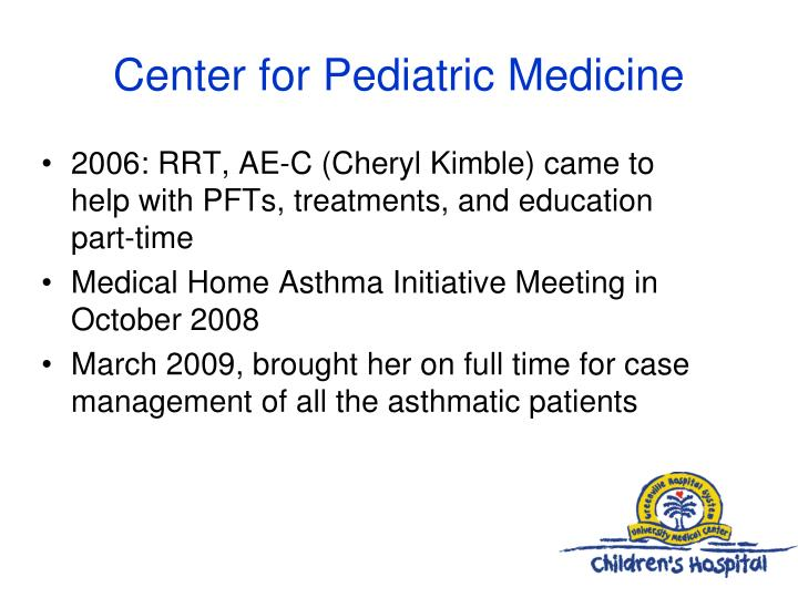 Center for pediatric medicine1