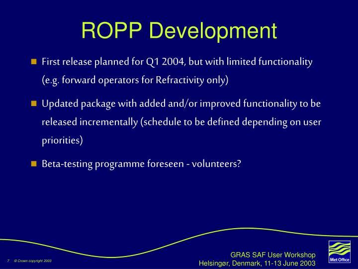 ROPP Development