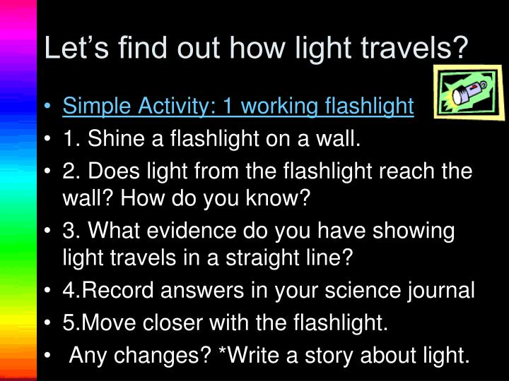 Let's find out how light travels?