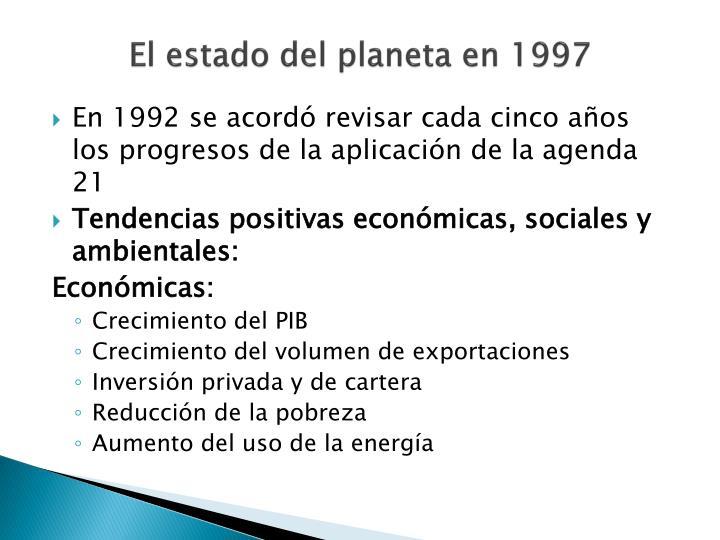 El estado del planeta en 1997