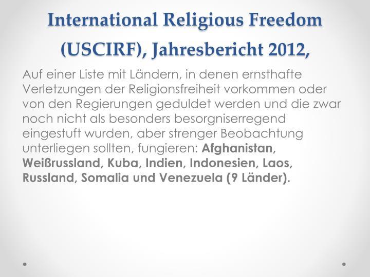 United States Commission on International Religious Freedom (USCIRF),