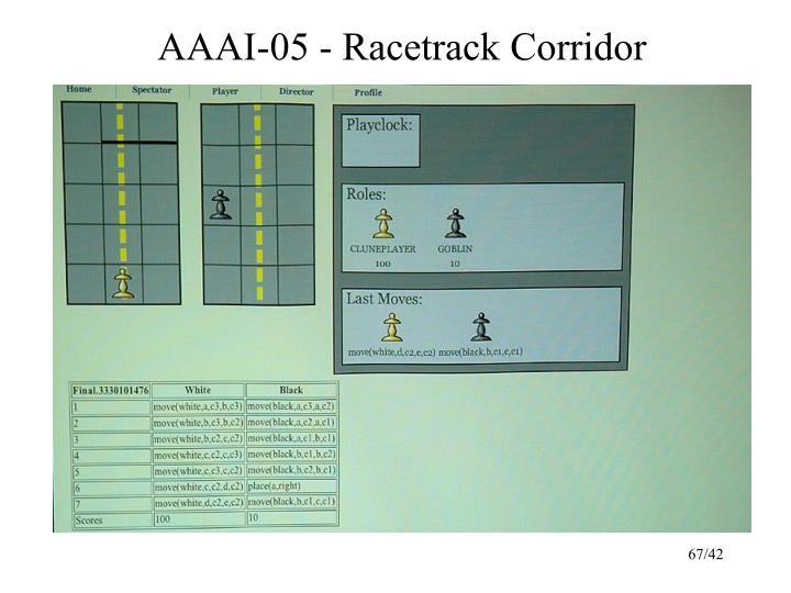 AAAI-05 - Racetrack Corridor