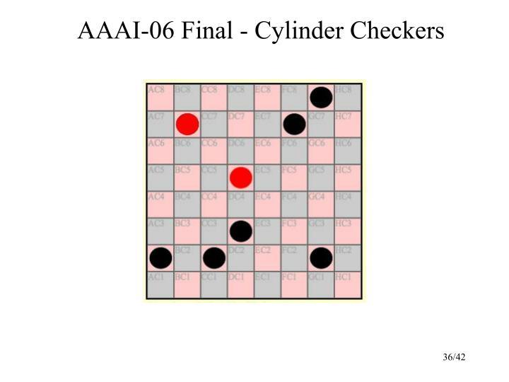 AAAI-06 Final - Cylinder Checkers