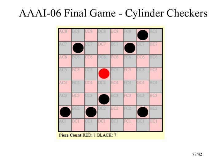 AAAI-06 Final Game - Cylinder Checkers