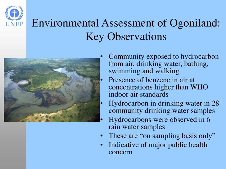 Community exposed to hydrocarbon from air, drinking water, bathing, swimming and walking