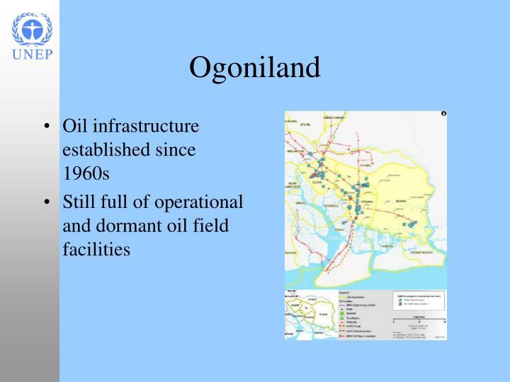 Oil infrastructure established since 1960s