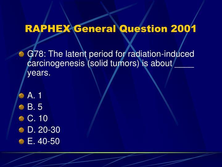 2001 question