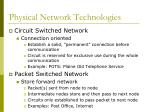 physical network technologies