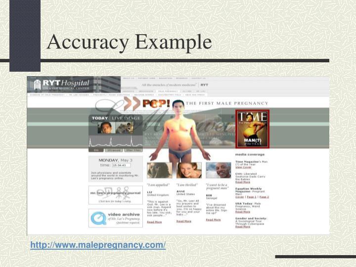 Accuracy Example