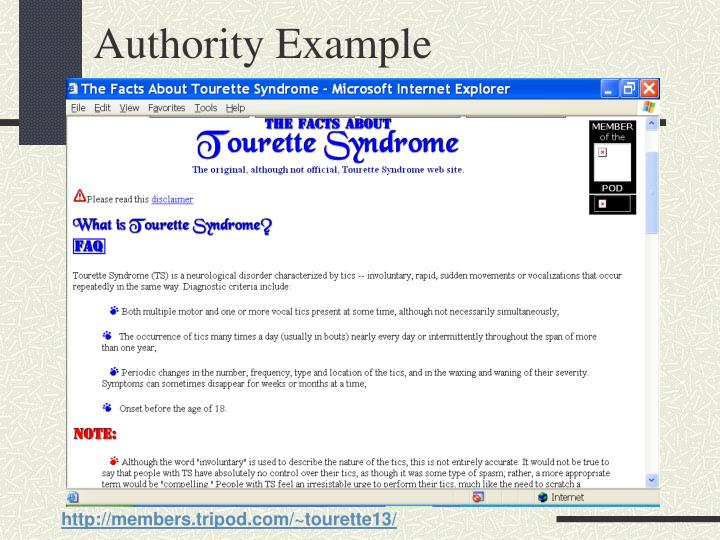 Authority Example