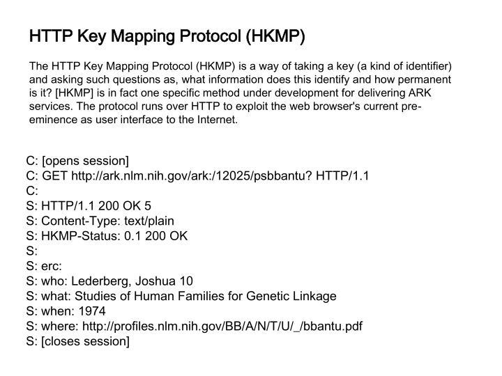 HTTP Key Mapping Protocol (HKMP)