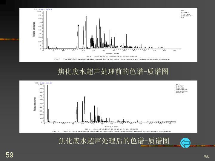 焦化废水超声处理前的色谱