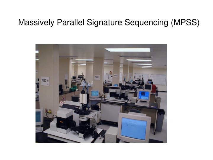 Massively Parallel Signature Sequencing (MPSS)