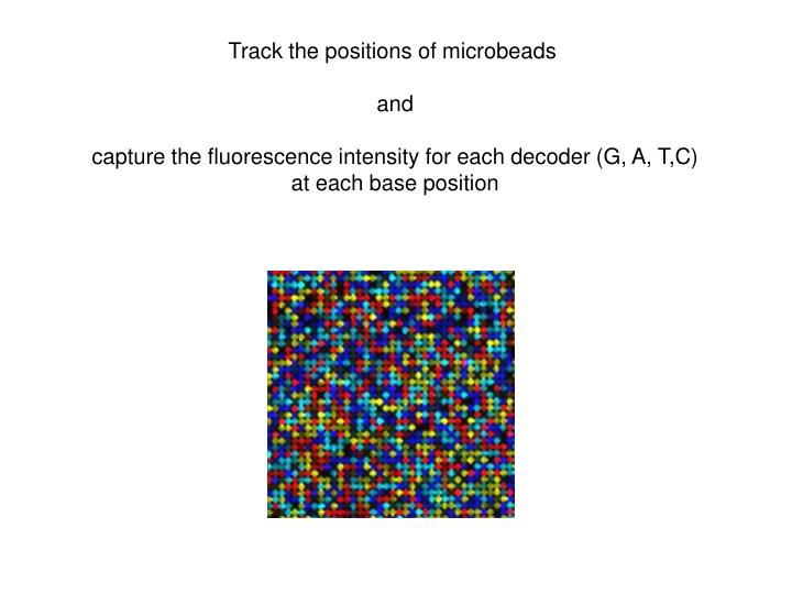 Track the positions of microbeads