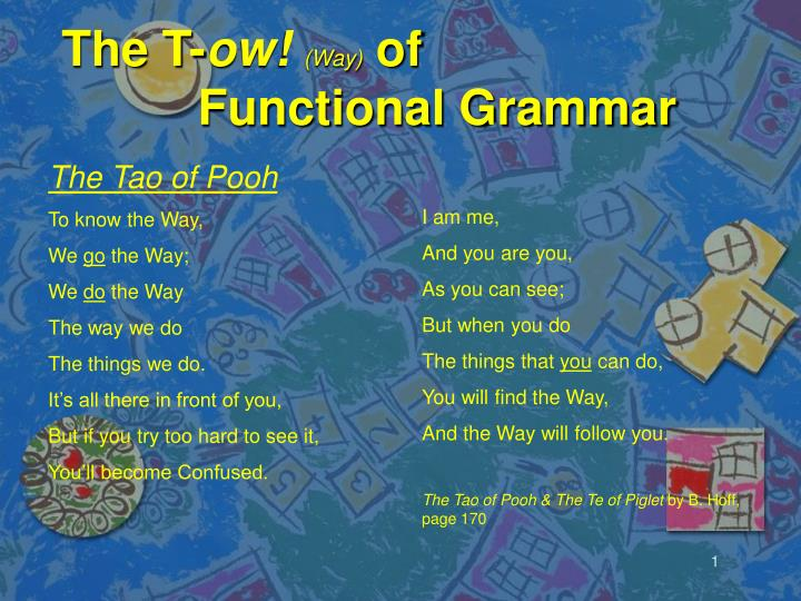 the t ow way of functional grammar n.