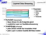 layered data streaming